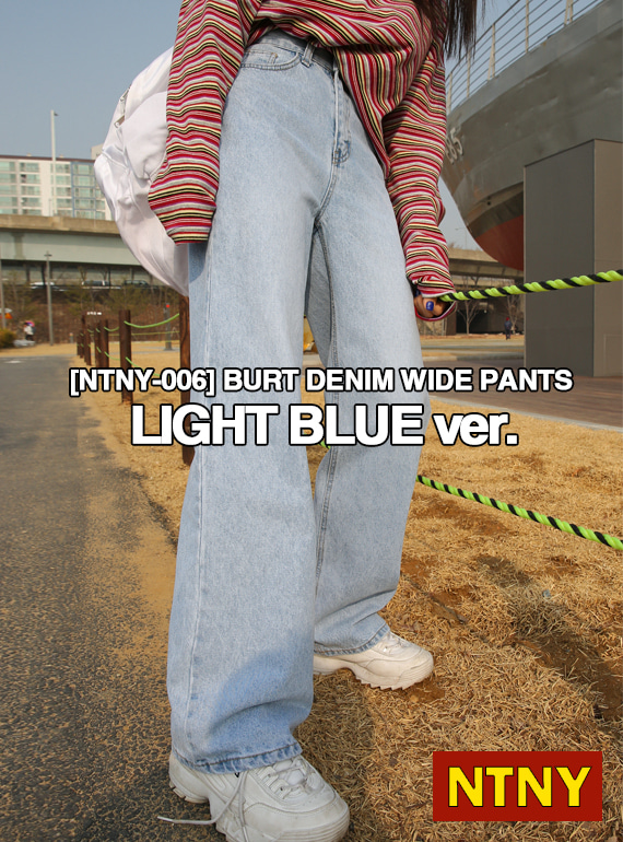 [NTNY-006] BURT DENIM WIDE PANTS (Light Blue)